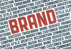 Brand illustration concept Stock Photography