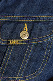 Brand jeans jacket Royalty Free Stock Images