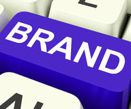 Brand Key Shows Branding Trademark Or Label Stock Images