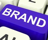 Brand Key Shows Branding Trademark Or Label. Brand Key Showing Branding Trademark Or Label Stock Images