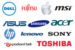 Brand Laptops Logos Royalty Free Stock Photos