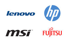 Brand laptops 2 Stock Images