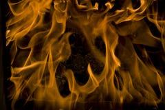 Brand, liefdevlammen, frame stock afbeelding
