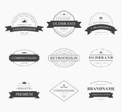 Brand and logo design, old tavern badge Stock Image