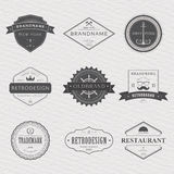 Brand and logo design, old tavern badge Royalty Free Stock Image