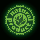 Logo printing brand natures product Royalty Free Stock Images