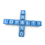 Brand loyalty 3D crossword on white background Royalty Free Stock Photography