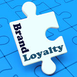Brand Loyalty Shows Customer Confidence Royalty Free Stock Photo