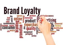 Brand loyalty word cloud hand writing concept vector illustration