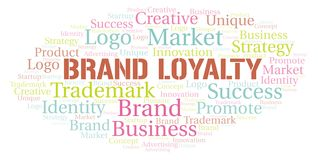 Brand Loyalty word cloud. Wordcloud made with text only royalty free illustration