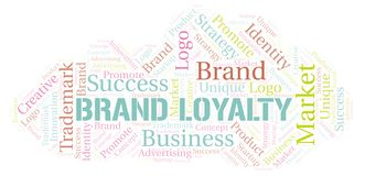 Brand Loyalty word cloud. Wordcloud made with text only vector illustration