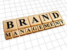 Brand management in golden cubes Royalty Free Stock Image