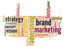 Brand marketing word cloud Stock Photography