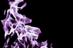 Brand med svart bakgrund Royaltyfria Foton