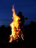 Brand-mens-bijl Stock Afbeeldingen