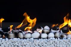 Brand met witte rotsen Royalty-vrije Stock Fotografie
