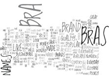 A Brand Name Bra Will Save You Money Word Cloud Royalty Free Stock Photo