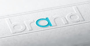 Brand Name, Company Identity Stock Image