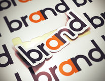 Brand Name - Company Identity Royalty Free Stock Photos