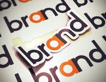 Brand Name - Company Identity Royalty Free Stock Photos