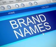 Brand names concept. Stock Photos