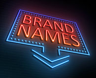 Brand names concept. Royalty Free Stock Image