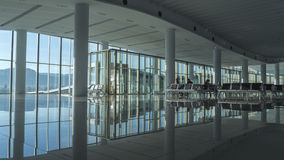 Brand new airport waiting room Royalty Free Stock Images