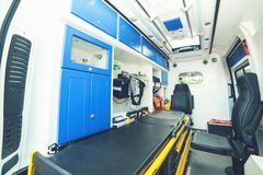 Brand new ambulance for the hospital royalty free stock images