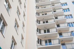 Brand new apartment building Royalty Free Stock Images