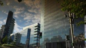 The brand new architectural complex in the Corso Como-Porta Nuova area.Ultra hd 4k,real time. Editorial-Milan, Italy, circa 2016. The brand new architectural stock video