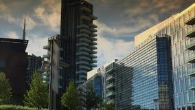 The brand new architectural complex in the Corso Como-Porta Nuova area.Ultra hd 4k,real time. Editorial-Milan, Italy, circa 2016. The brand new architectural stock video footage