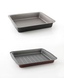 Brand new baking tin. isolated on white. Two Brand new baking tins. isolated on white Stock Photos