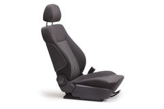 Brand new black car seat Royalty Free Stock Photos