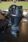 Brand new boat outboard motor  without cover Stock Photos
