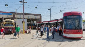 Brand New Bombardier Streetcars for Toronto Royalty Free Stock Photography
