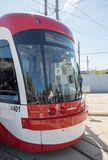 Brand New Bombardier Streetcars for Toronto Stock Images