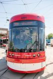 Brand New Bombardier Streetcars for Toronto Stock Photo