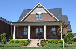 Brand New Brick New England Style Home Royalty Free Stock Photo