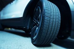 Brand New Car Tire. Closeup. New SUV Tire Royalty Free Stock Photos