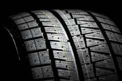 Brand new car tyre. Royalty Free Stock Images