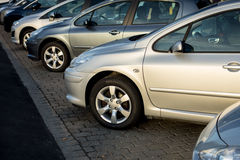 Brand new cars for sale Royalty Free Stock Photo