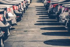 Brand New Cars For Sale Royalty Free Stock Image
