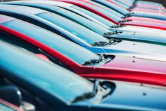 Brand New Cars in Stock royalty free stock images