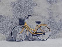 Brand new city bike- 3D render Royalty Free Stock Images