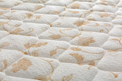 Brand new clean mattress cover surface Stock Images