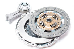 Brand new clutch kit on the white background Royalty Free Stock Photos