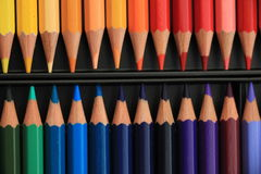 Brand new color pencils Stock Images