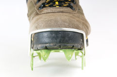 Brand new crampon closeup Royalty Free Stock Images