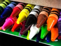 Box of Brand New Crayons stock image