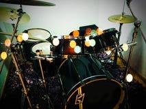 Green Tama drum kit with Zildjian cymbals royalty free stock photography
